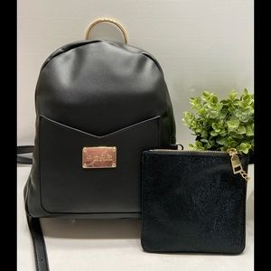 NEW Bebe Muriel Womens Backpack& Wristlet Set